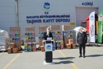 Sakarya Büyükşehir Belediyesinden Arıcılara 4 tır malzeme yardımı