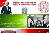 19 Mayıs Coşkusu TRT EBA TV'de yaşanacak