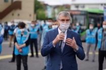 200 kişilik ekip yola çıktı Her eve maske Büyükşehir'den