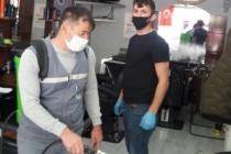 Karasu Belediyesi Berber ve Kuaför Salonlarını Dezenfekte Etti