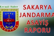 23 - 25 Haziran 2020 Sakarya İl Jandarma Asayiş Raporu