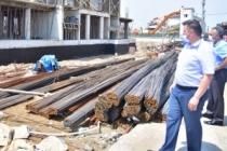 Başkan Sarı, İlçe Emniyet Müdürlüğü Binası İnşaatını Gezdi