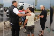 Kazaya İlk Müdahaleyi Vali Çetin Oktay Kaldırım Yaptı