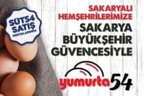Büyükşehir güvencesiyle Yumurta54 satışları başladı