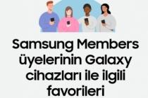 Samsung Members üyelerinin Galaxy cihazlarıyla ilgili favorileri belli oldu