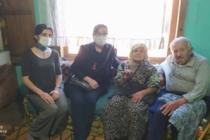 CHP Taraklı İlçe Kadın Kolları Yaşlıları Ziyaret etti