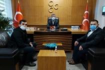 Berkay ve Çetin'den Başkan Akar'a ziyaret