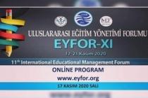 Türkiye'nin en büyük eğitim kongresi başlıyor  EYFOR XI'de 587 Bildiri Yayınlanacak.