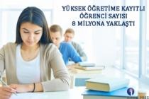 Yüksek Öğretime Kayıtlı Öğrenci Sayısı 8 Milyona Yaklaştı