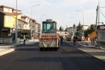 Süleyman Binek Caddesi'nde asfalt çalışmaları başladı