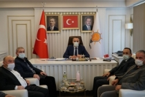 Ak parti taraklı ilçe yönetimi Yunus Tever'i ziyaret etti