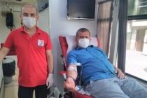Kan bağışı etkinliğine taraklılardan yoğun ilgi