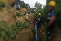 Karasu'da 2 mahalleye bin 500 metre uzunluğunda yeni içmesuyu hattı