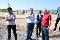 Sahil Projesi Kapsamında Sıcak Asfalt Çalışmaları Başladı