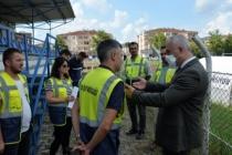 Başkan Babaoğlu Stat Çalışmalarını İnceledi