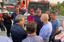 Sakarya ekibi, yangın bölgelerinde aralıksız çalışıyor