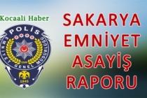 31 Ağustos 01 Eylül 2021 Sakarya İl Emniyet Asayiş Raporu