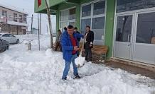 Ortaköy'de kar kalınlığı 70 cm
