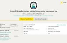 Kocaali belediyesinden kiralık arsalar satılık araçlar