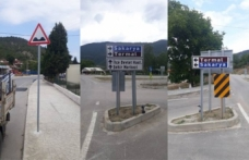 Taraklı'da trafik tabela montajları tamamlandı