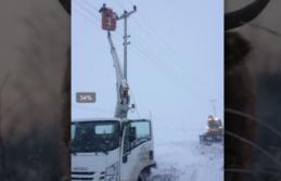 SEDAŞ ekipleri kar kış demeden çalışmalarını sürdürüyor