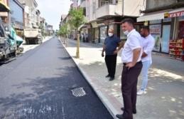 617 Nolu Sokakta Sıcak Asfalt Çalışmaları Başladı