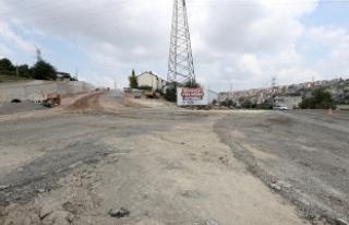 Şehrin yeni girişinde çalışmalar hızlandı