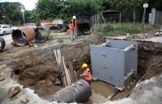 Yanık kanalizasyon projesi tamamlanıyor