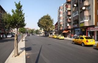 Sakarya Caddesi'nde dönüşüm tamamlandı