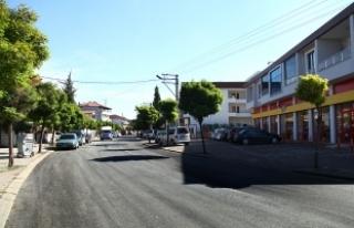 Turan Caddesi'nde asfalt tamam