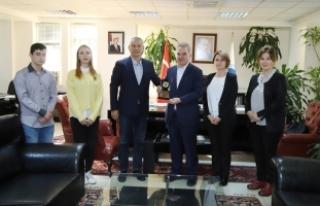 Başkan Kobaş'tan, Rektör Elmas'a teşekkür...