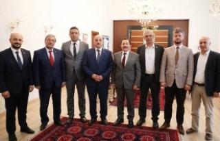 Vali Balkanlıoğlu Seçim Öncesi İl Başkanları...