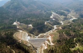 Akçay Barajı yılsonunda su tutmaya hazırlanıyor