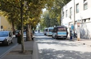 Gar yanındaki minibüslere yeni durak düzenlemesi