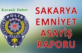 23 Ekim 2018 Sakarya İl Emniyet Asayiş Raporu