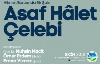 AKM'de Asaf Halet Çelebi konuşulacak