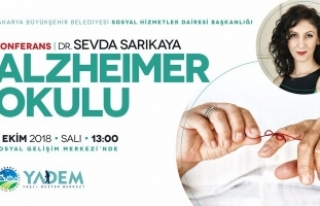 Alzheimer Okulu' SGM'de konuşulacak