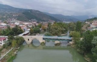 Geyve'de 523 Yıllık Tarihi 2. Beyazıt Köprüsü...