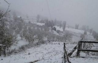 Sakarya'da Yılın İlk Karı Dikmen Yaylası'na...