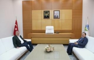 Vali Balkanlıoğlu'ndan Toçoğlu'na veda ziyareti