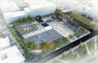 Şehrin yeni meydanı Şubat'ta tamamlanacak