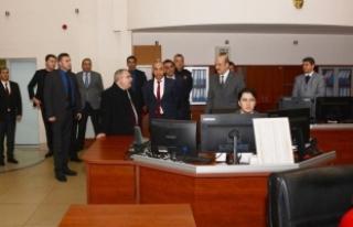 Vali Nayir Kent Güvenlik Yönetim Merkezinde İncelemelerde...