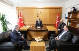 Vali NAYİR'den MHP il Teşkilatına iade-i ziyaret
