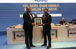 MÜSİAD Sakarya, Afyon'dan Türkiye Birincisi olarak...