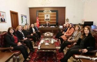 Türk Kadınlar Birliğinden Vali NAYİR'e ziyaret