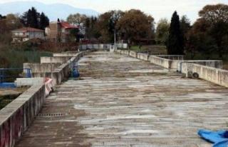 Justinianus Köprüsü'nde Restorasyon çalışmaları...