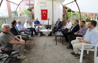Vali Nayir Eskişehir Valisi Çakacak'a Taziye Ziyaretinde...