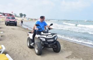 Başkan Sarı, ATV ile Karasu Sahilini Denetledi