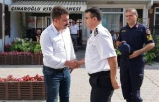 İl Jandarma Komutanı Albay Cengiz Yiğit'den Başkan...