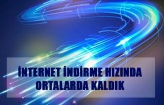 İnternet indirme hızında ortalarda kaldık...